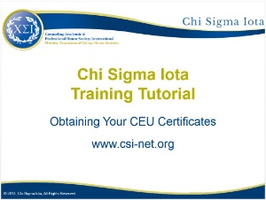 Obtaining Your CEU Certificates
