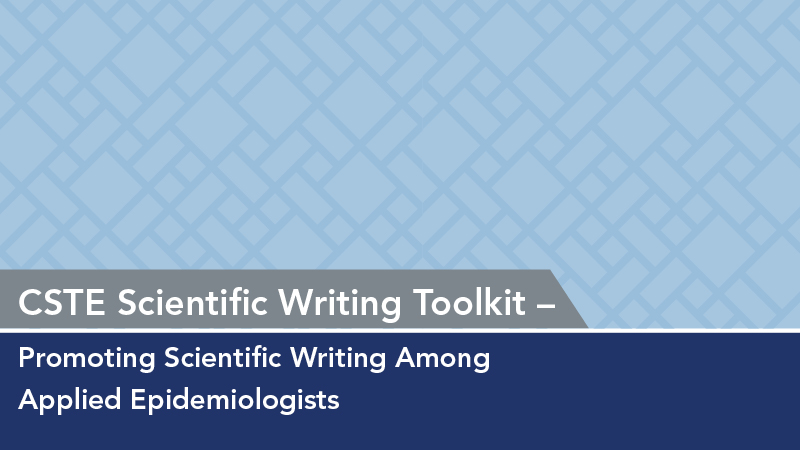 scientific writing toolkit council of state and territorial epidemiologists