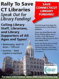 Rally to Save Connecticut Libraries!