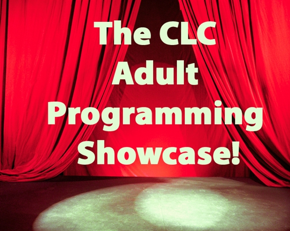 CLC programming showcase logo curtains spotlight