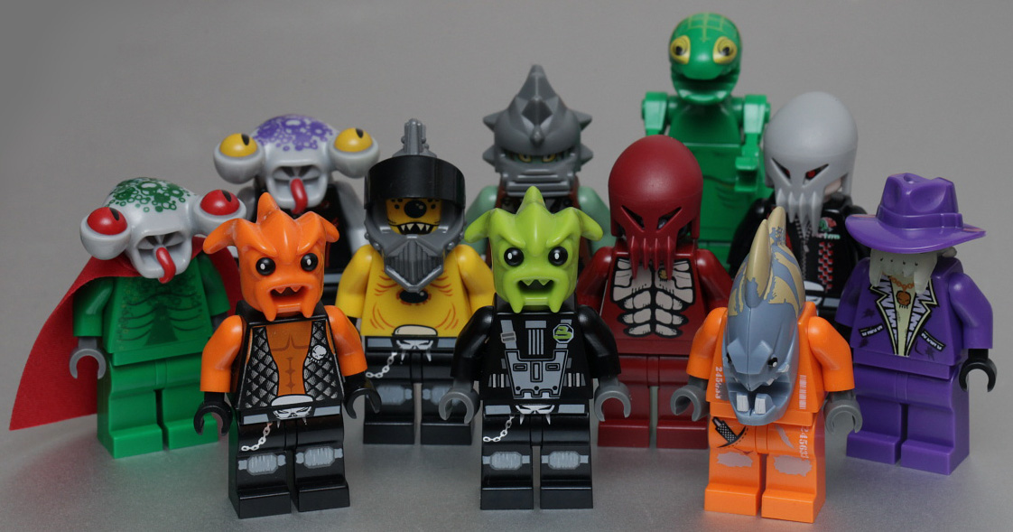 group of action figures