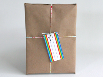 wrapped book