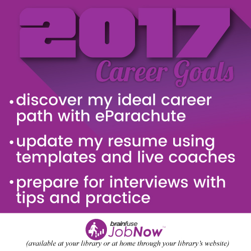 JobNow 2017 career goals graphic
