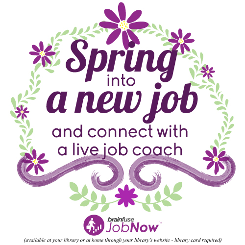 Spring into new job graphic Brainfuse