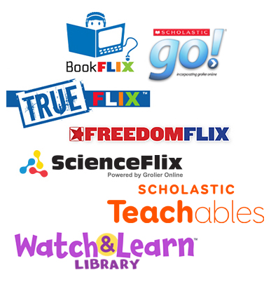 Scholastic Digital product logos