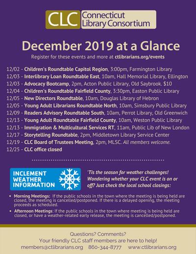 December 2019 At a Glance