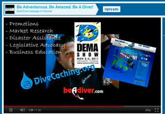 Be A Diver Campaign YouTube Channel Icon