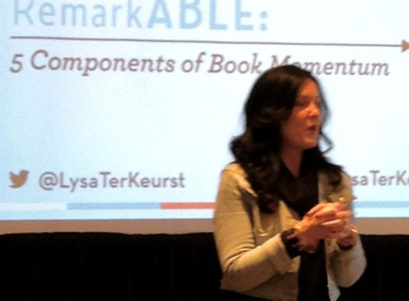 Lysa Terkeurst addresses publishing leaders
