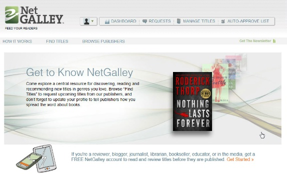 NetGalley home page