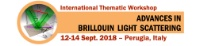 Conference / Magnetism: Advances in Brillouin Liught Scattering