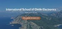 School : International School on Oxide Electronics