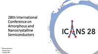 28th International Conference on Amorphous and Nanocrystalline Semiconductors