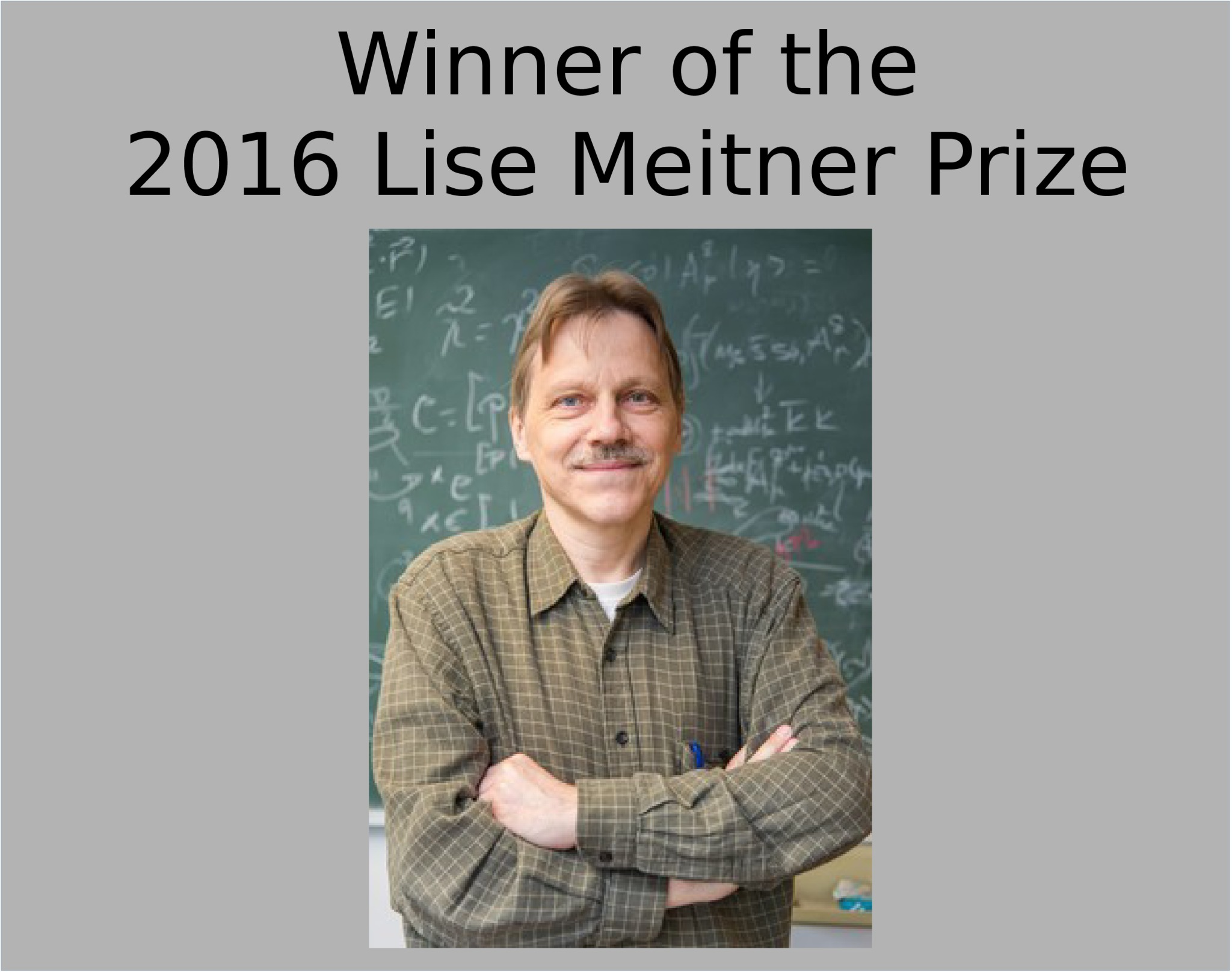 2016 Lise Meitner Prize: photo of prize winner