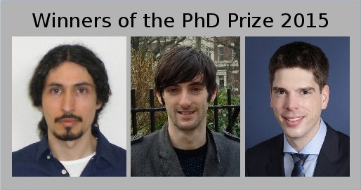 PhD Prize 2015: photo of prize winners