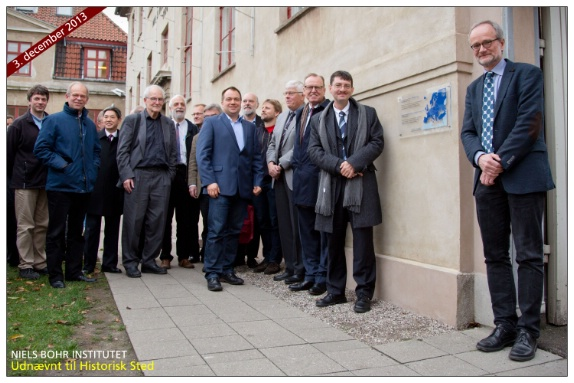 The participants of the EPS Historic Site ceremony in front of the plaque.