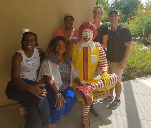 Ronald McDonald House Lunch - group outside - pic