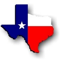 Texas-shaped Texas flag - graphic