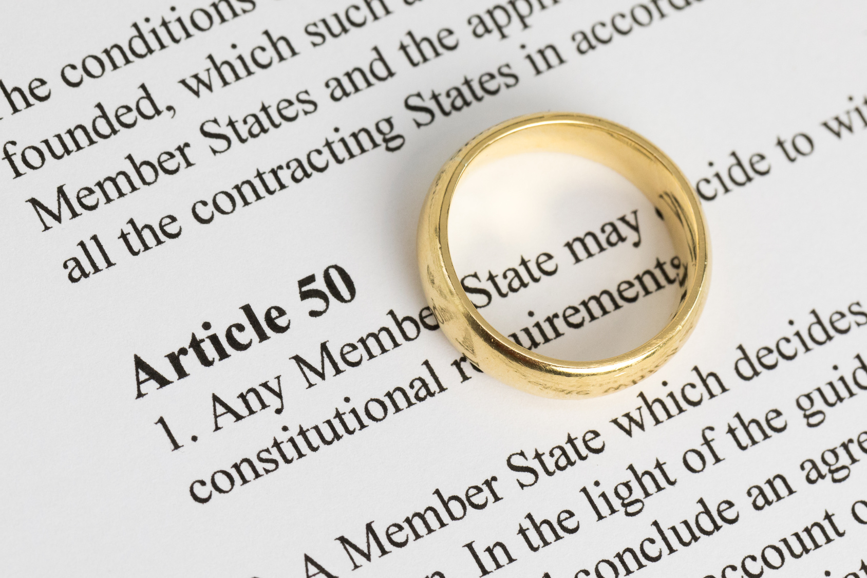 Article 50 extract with wedding ring