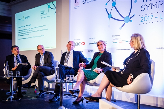 Lesley on panel at World Trade Symposium