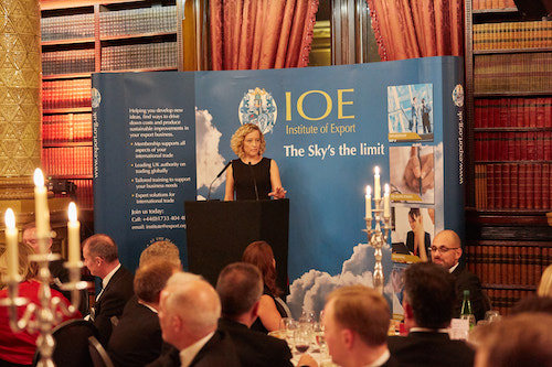 cathy newman at the ioe queens award dinner