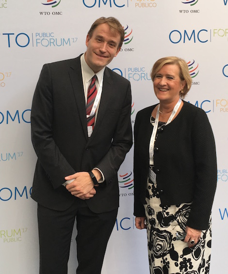 lesley and arne at wto