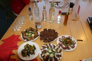 russian pickles and vodka