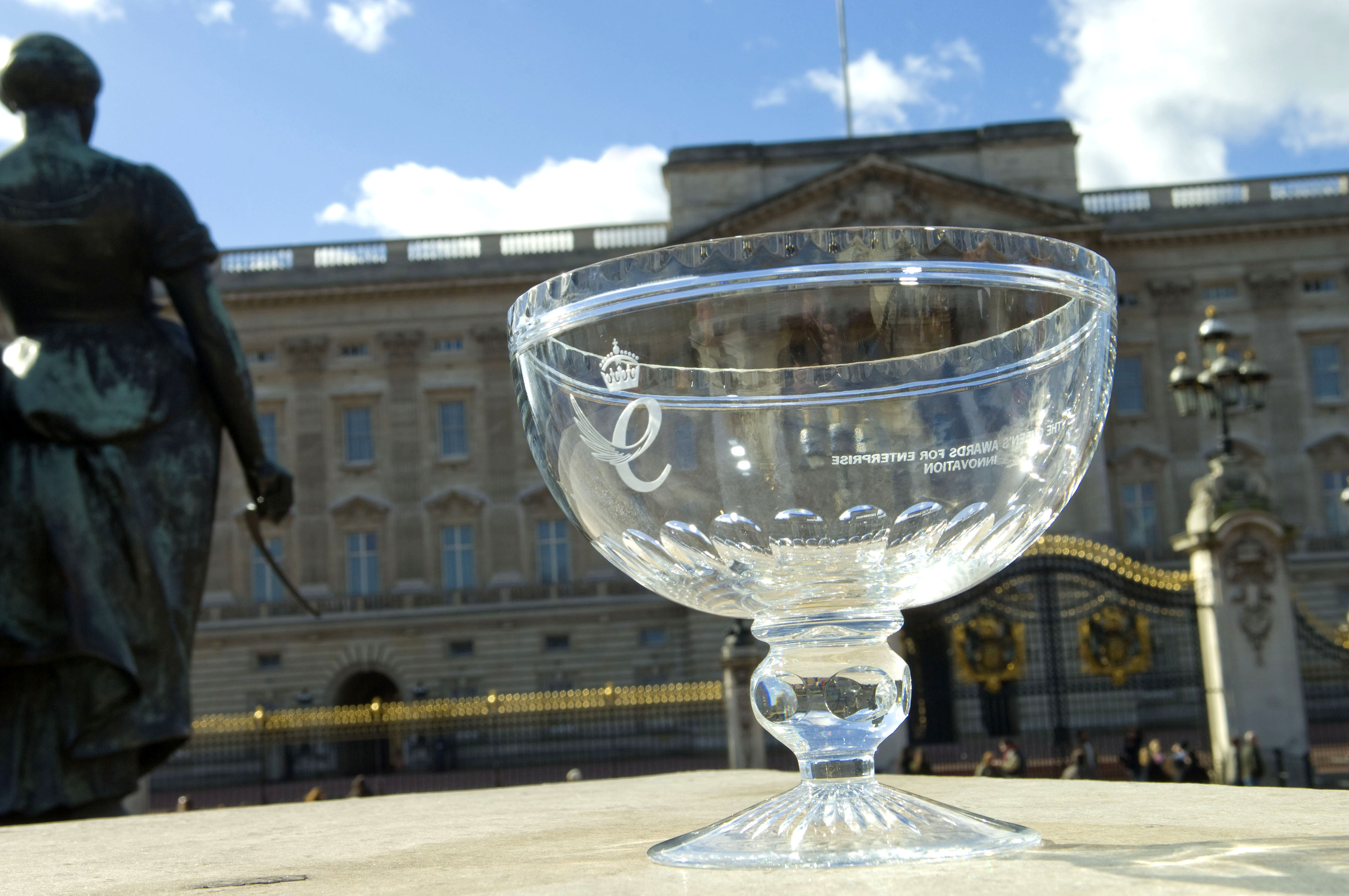 Queens Awards bowl at Buckingham Palace
