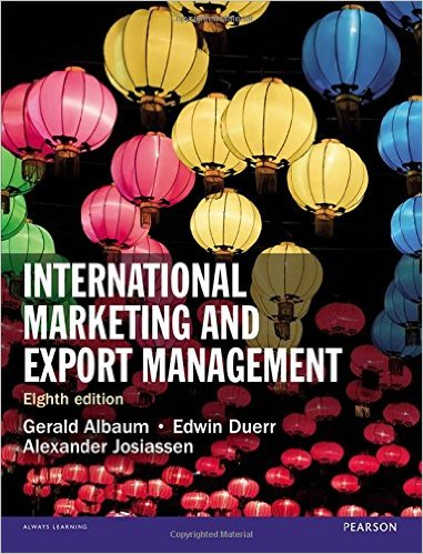 International Marketing and Export Management cover