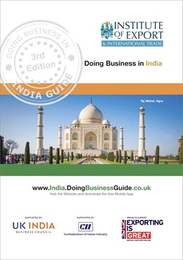 Doing Business In India guide cover