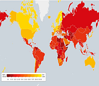 map of corruption perceptions index