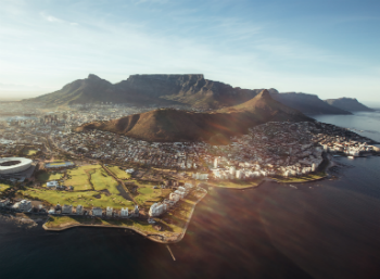 aerial shot of South Africa