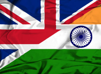 Union Jack and Indian flag merged