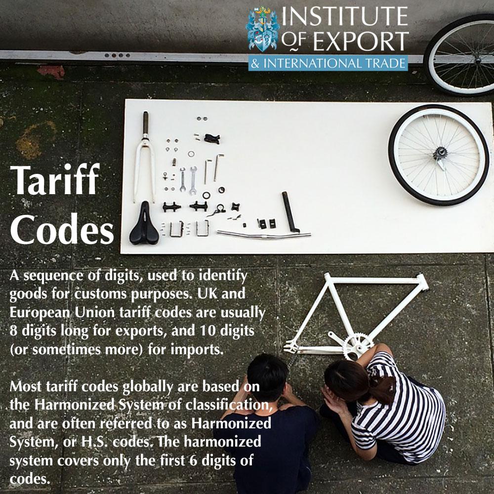 tariff codes