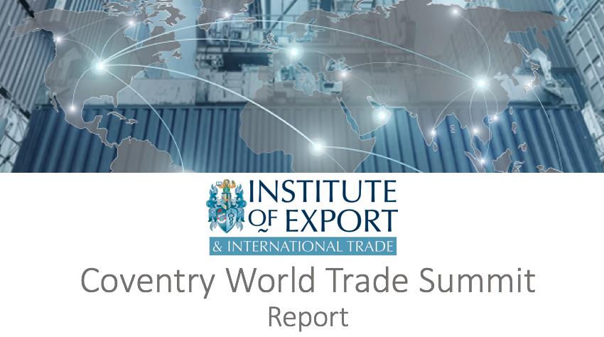 coventry world trade summit