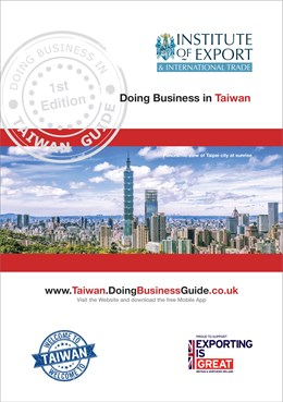 Doing business in Taiwan cover