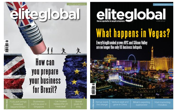 Elite Global Magazine covers