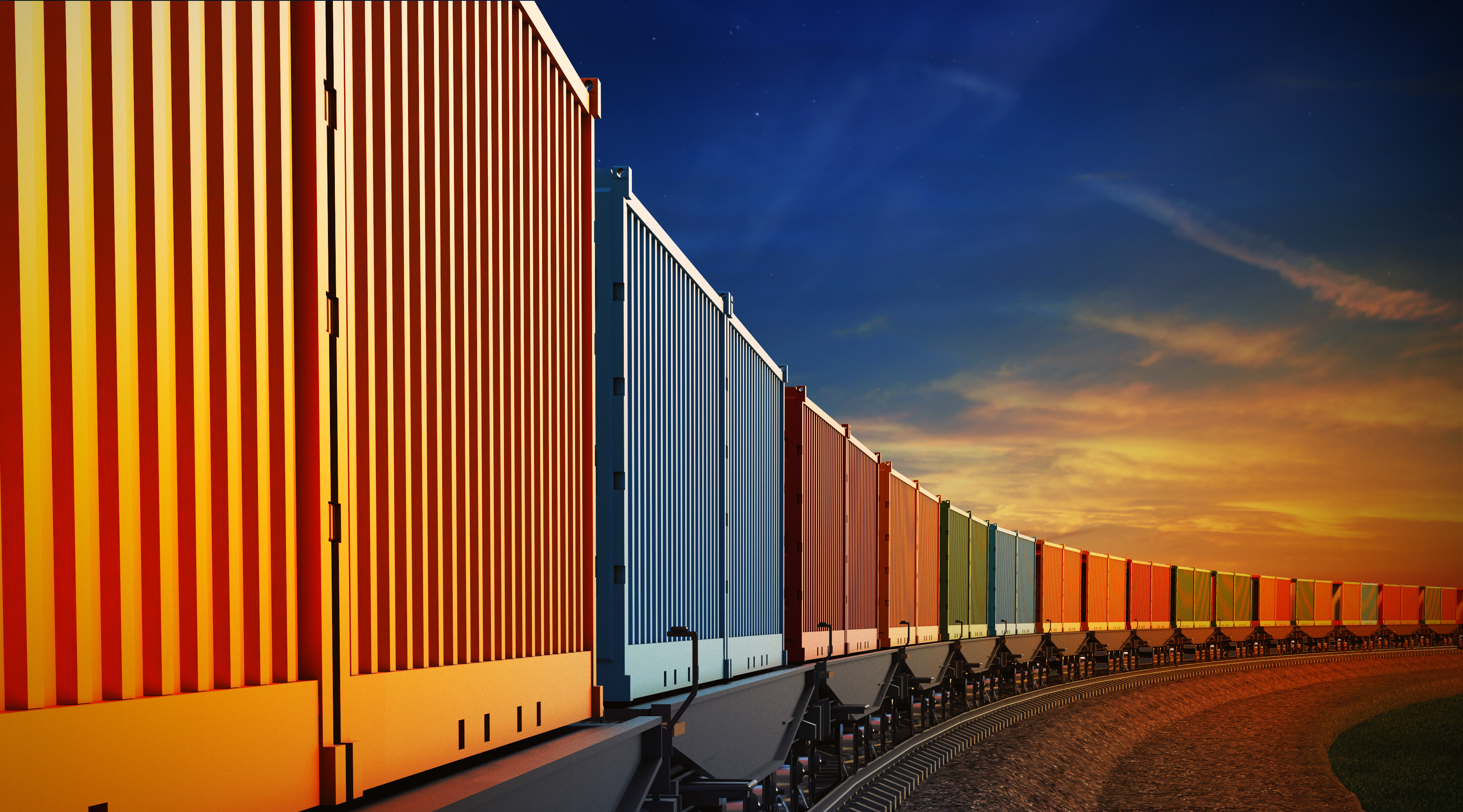 train with containers