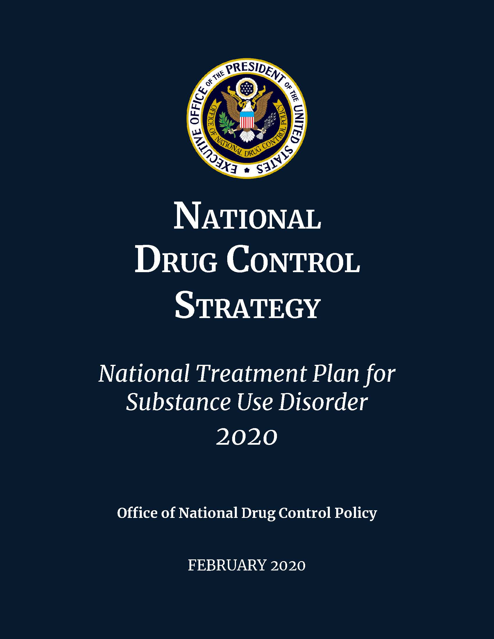 National Drug Control Strategy - Cover