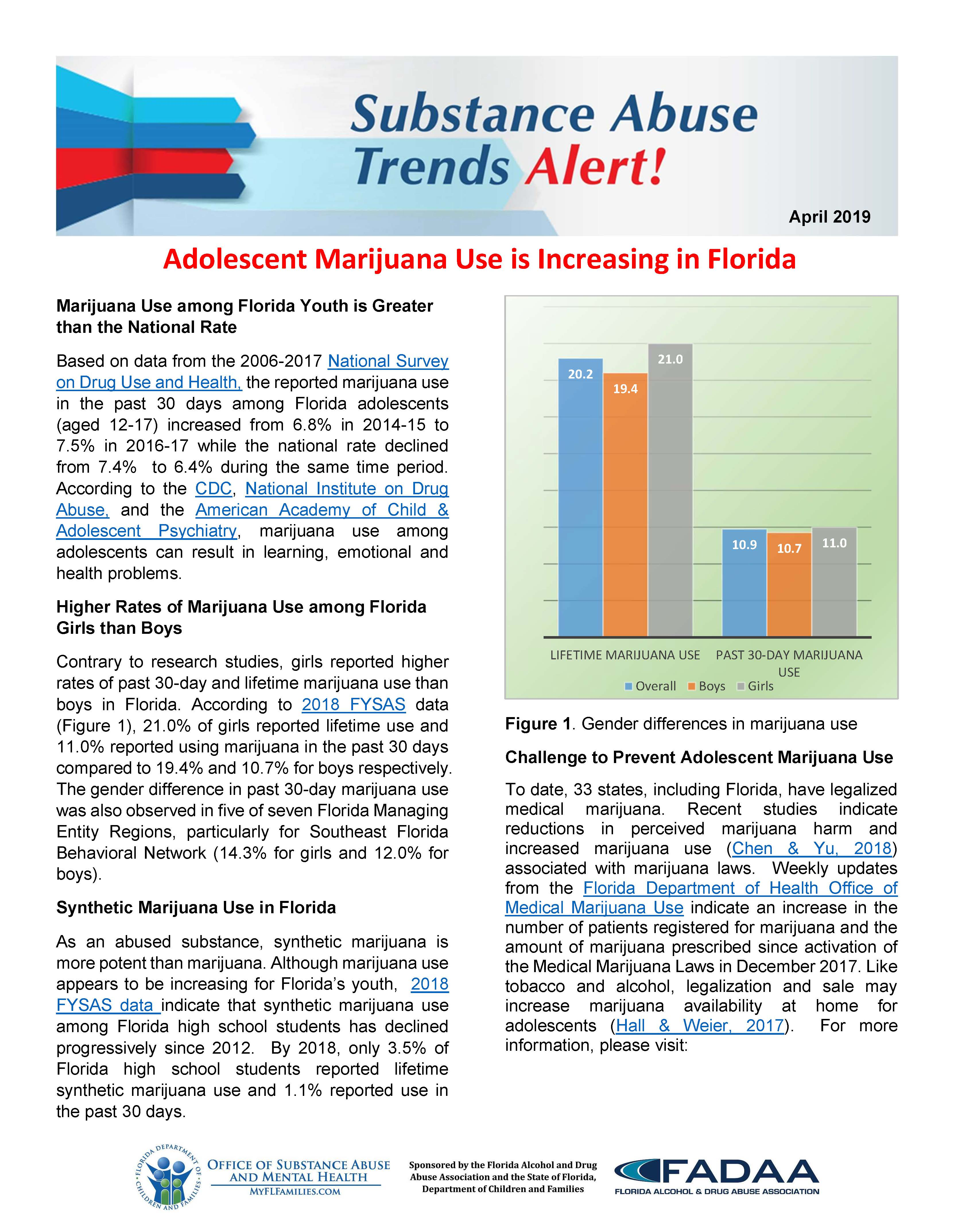Florida Substance Abuse Trends Report - Cover