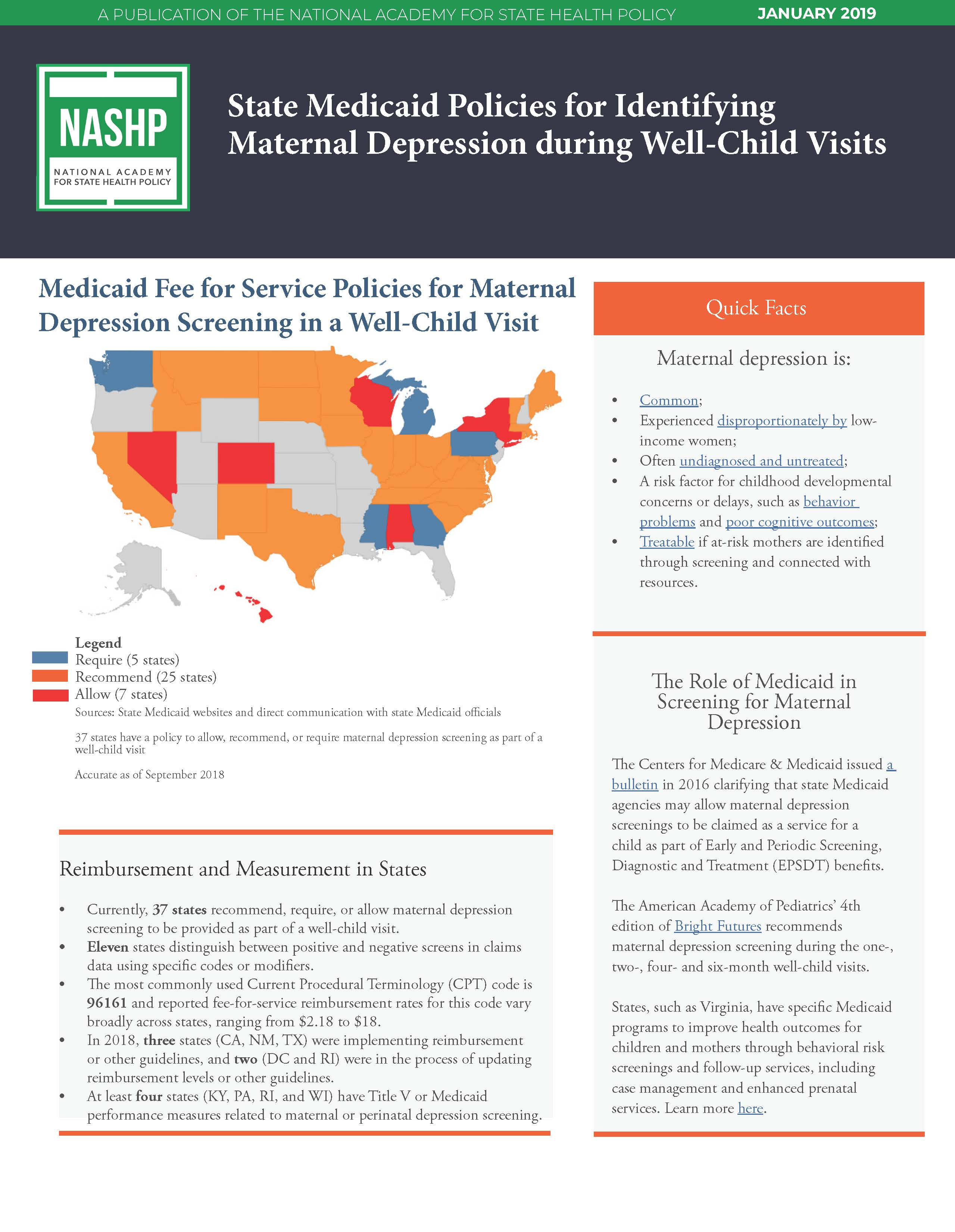 National Depression Fact Sheet - Cover