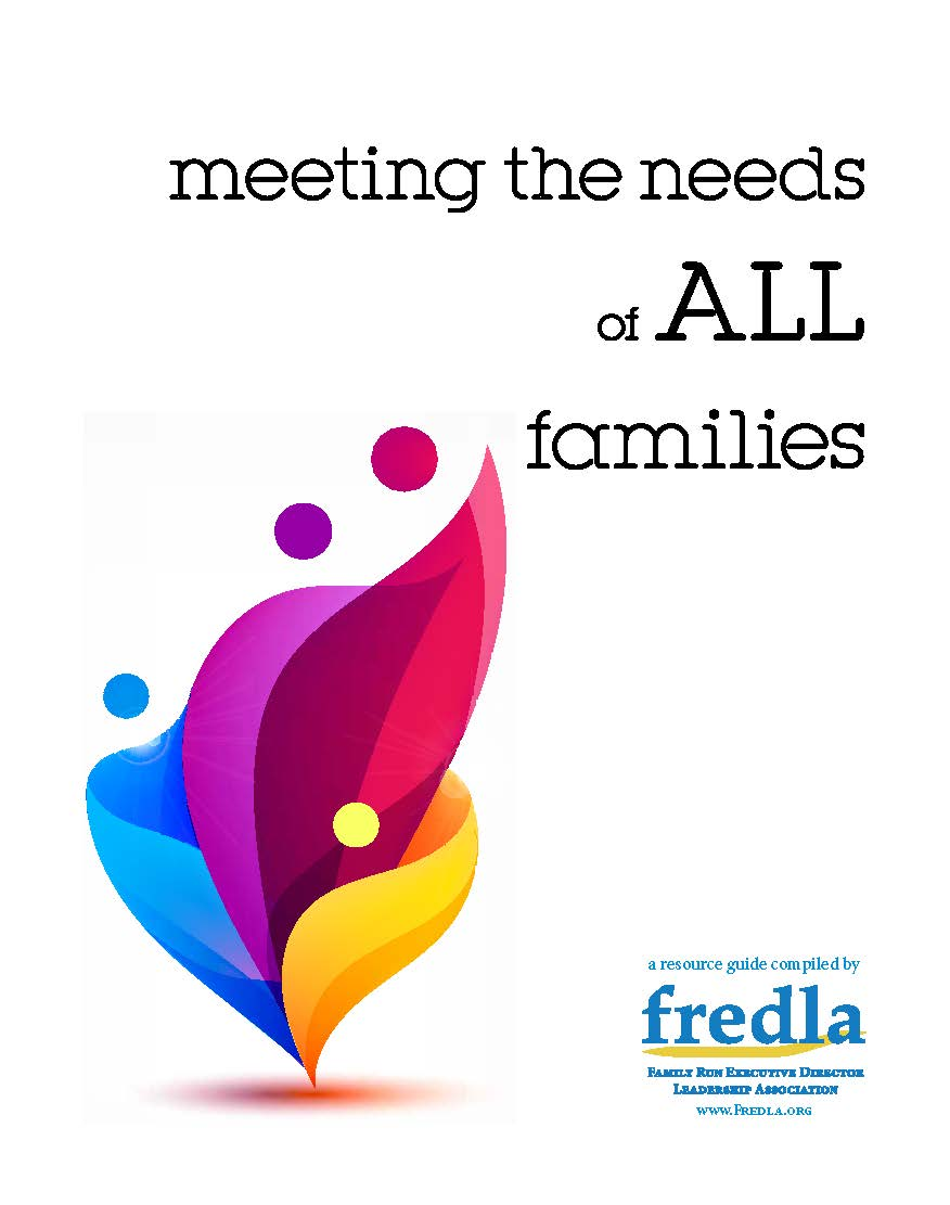 Report - Meeting the Needs of All Families - Cover