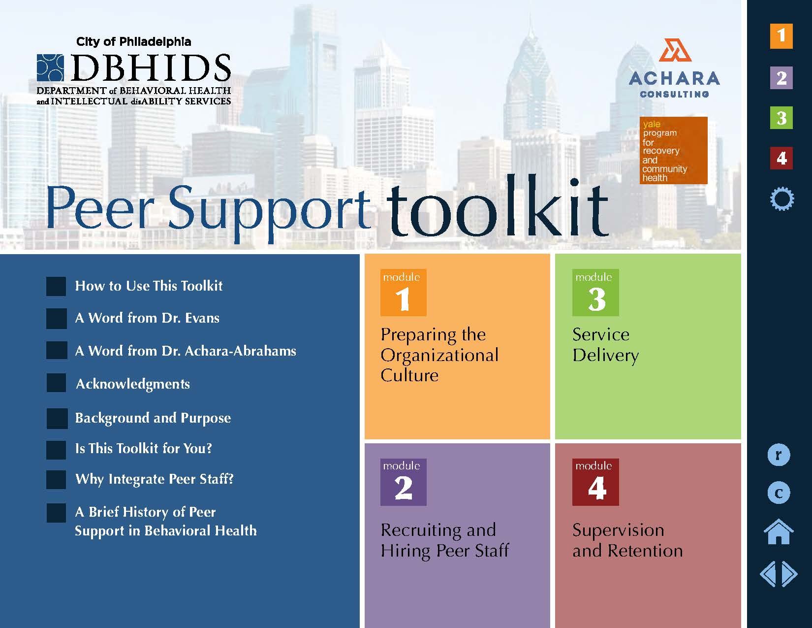 DBHIDS Peer Support Toolkit - Cover