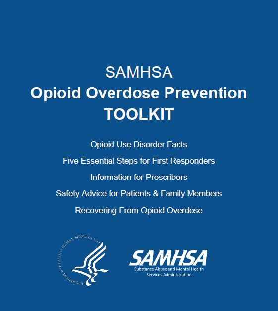 SAMHSA Opioid Overdose Prevention Toolkit - Cover