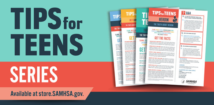 SAMHSA Tips for Teens Series - Covers