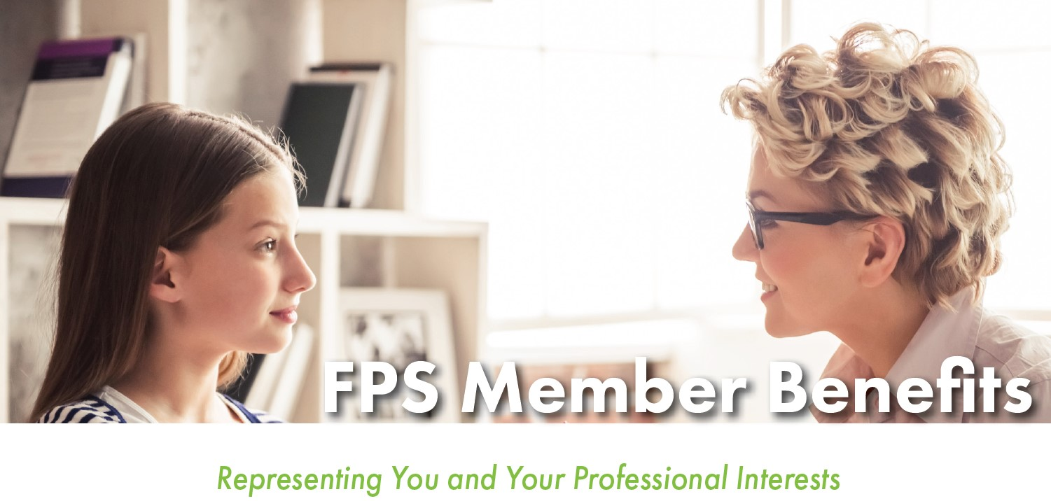FPS member benefits: representing you and your professional interest. Photo of child and adult psychiatrist