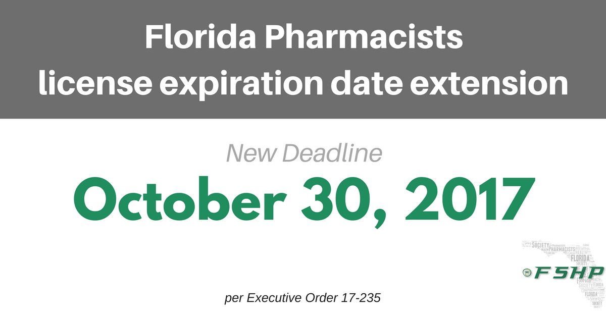 Pharmacist deadline extended