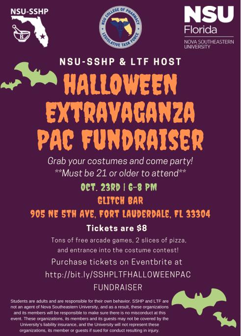 NSU-SSHP Halloween Extravaganza 2019 - PAC Fundraiser
