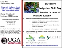 Blueberry Irrigation Field Day