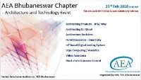 AEA Bhubaneswar Chapter - Architecture and Technology Event