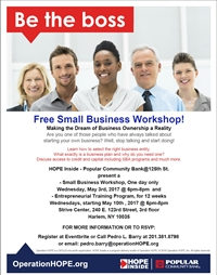 Popular Community Bank presents: Free Small Business Workshop !